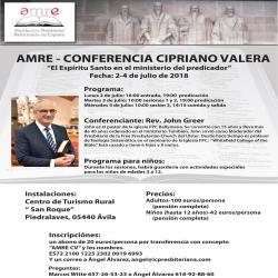 """Conferencia """"Cipriano Valera"""" 2018"""